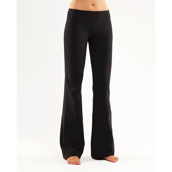 b8bc7410f7 lululemon athletica Pants - Lululemon Groove Pant, Black, Flare Leg, Women's  8